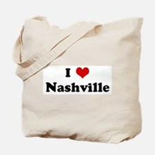 I Love Nashville Tote Bag