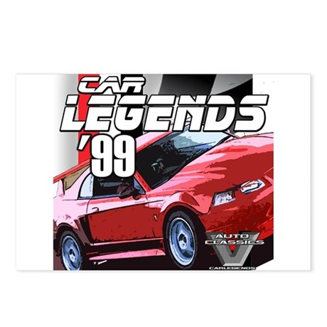 Mustang Legends 1999 Postcards (Package of 8)