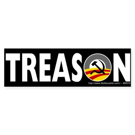 Anti-Obama Treason Sticker