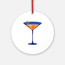Gator Martini Ornament (Round)