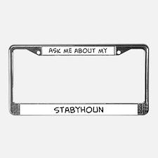 Ask me: Stabyhoun License Plate Frame