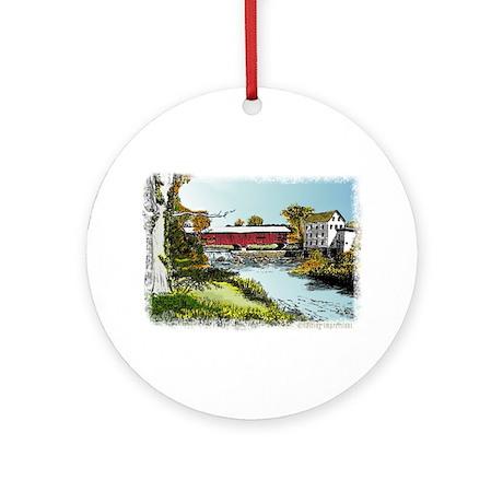 Bridgeton Bridge Ornament (Round)