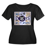 Dogs Go To Heaven Women's Plus Size Scoop Neck Dar