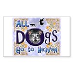 Dogs Go To Heaven Rectangle Sticker 10 pk)