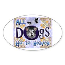 Dogs Go To Heaven Oval Decal