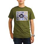 Dogs Go To Heaven Organic Men's T-Shirt (dark)