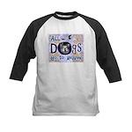 Dogs Go To Heaven Kids Baseball Jersey