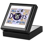 Dogs Go To Heaven Keepsake Box
