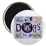 """Dogs Go To Heaven 2.25"""" Magnet (100 pack)"""
