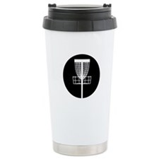 Disc Golf Basket Travel Coffee Mug