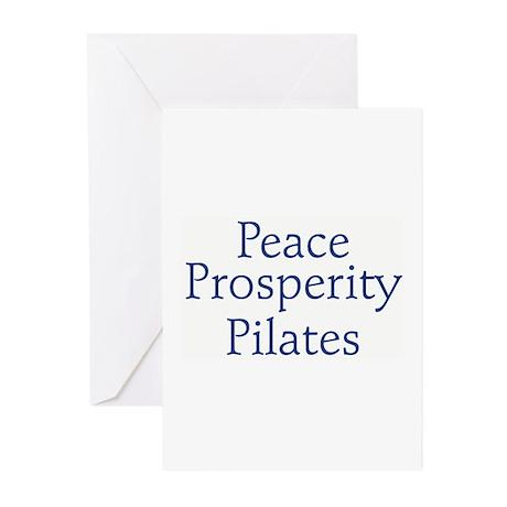 """Peace, Prosperity, Pilates"" Greeting Cards"