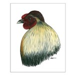 Mapuche Rooster Small Poster