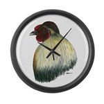 Mapuche Rooster Large Wall Clock