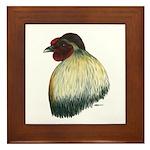 Mapuche Rooster Framed Tile