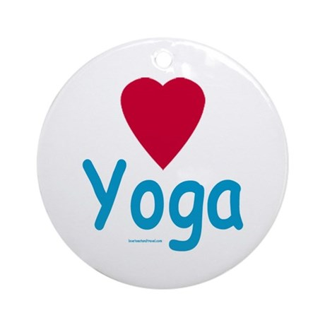 Heart Yoga - Holiday Ornament Round