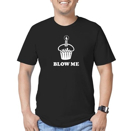 Blow Me Cupcake Men's Fitted T-Shirt (dark)