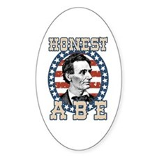 Honest Abe Oval Decal