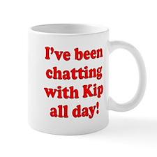 Chatting online with Kip: Mug