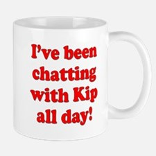 Chatting online with Kip: Mug