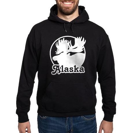 Alaska Moose Hoodie (dark)