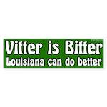 Vitter is Bitter bumper sticker