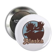 "Alaska Moose 2.25"" Button"