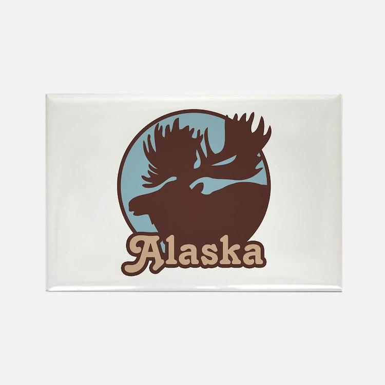 Alaska Moose Rectangle Magnet