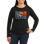 Tropical Parrot Women's Long Sleeve Dark T-Shirt