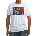 Tropical Parrot Fitted T-Shirt