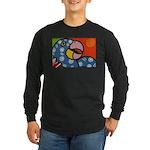 Tropical Parrot Long Sleeve Dark T-Shirt