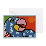 Tropical Parrot Greeting Cards (Pk of 10)