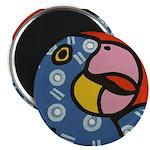 Tropical Parrot Magnet