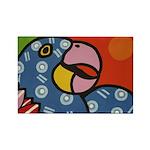 Tropical Parrot Rectangle Magnet