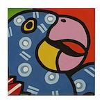 Tropical Parrot Tile Coaster