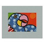 Tropical Parrot Small Poster