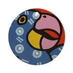 Tropical Parrot Ornament (Round)