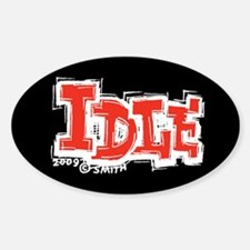 Idle Oval Decal