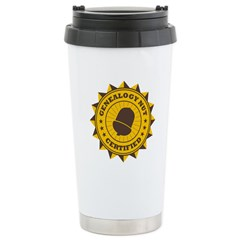 Certified Genealogy Nut Travel Mug