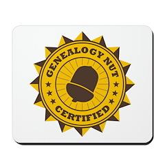 Certified Genealogy Nut Mousepad