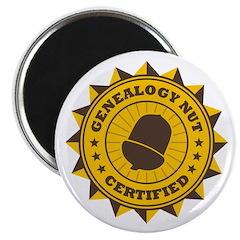Certified Genealogy Nut Magnet