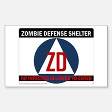 Department of Zombie Defense Rectangle Decal