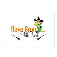 Have Broom pinup Postcards (Package of 8)