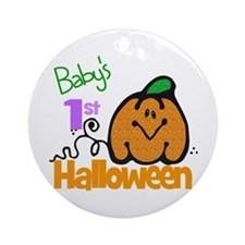 Baby's 1st Halloween Ornament (Round)