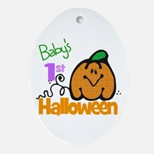 Baby's 1st Halloween Oval Ornament