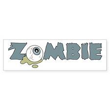 Zombie Eyeball Bumper Bumper Sticker