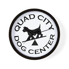 QC Dog Center Wall Clock