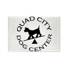 QC Dog Center Rectangle Magnet