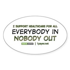 Health Care Reform Oval Decal