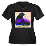 Sumatran Women's Plus Size V-Neck Dark T-Shirt