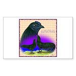 Sumatran Rectangle Sticker 50 pk)